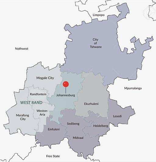 Gauteng Map